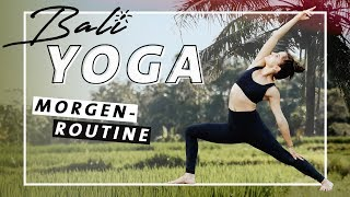 Yoga Morgenroutine Vinyasa Flow |  Fit & Wach den Tag beginnen | Mittelstufe