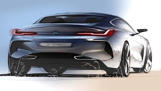 Car Design Sketch & Drawing - BMW 8 Series Concept