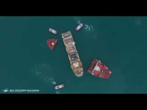 Aerial Service Offshore Heavy Transport OHT drone ship video inspection Navibulgar CECON EXCELLENCE