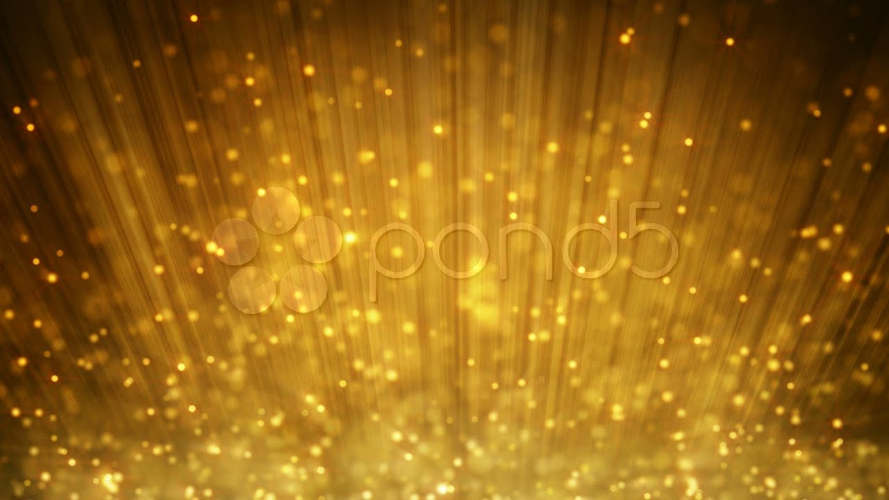 Loopable Background Gold Glitter. Stock Footage