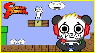 Cat Mario MOST FRUSTRATING GAME EVER Let's Play With Combo Panda