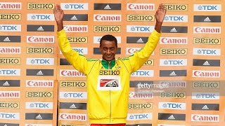 Portland 2016 - Post-race Interview with 3000m Gold Medalist Yomif Kejelcha of Ethiopia