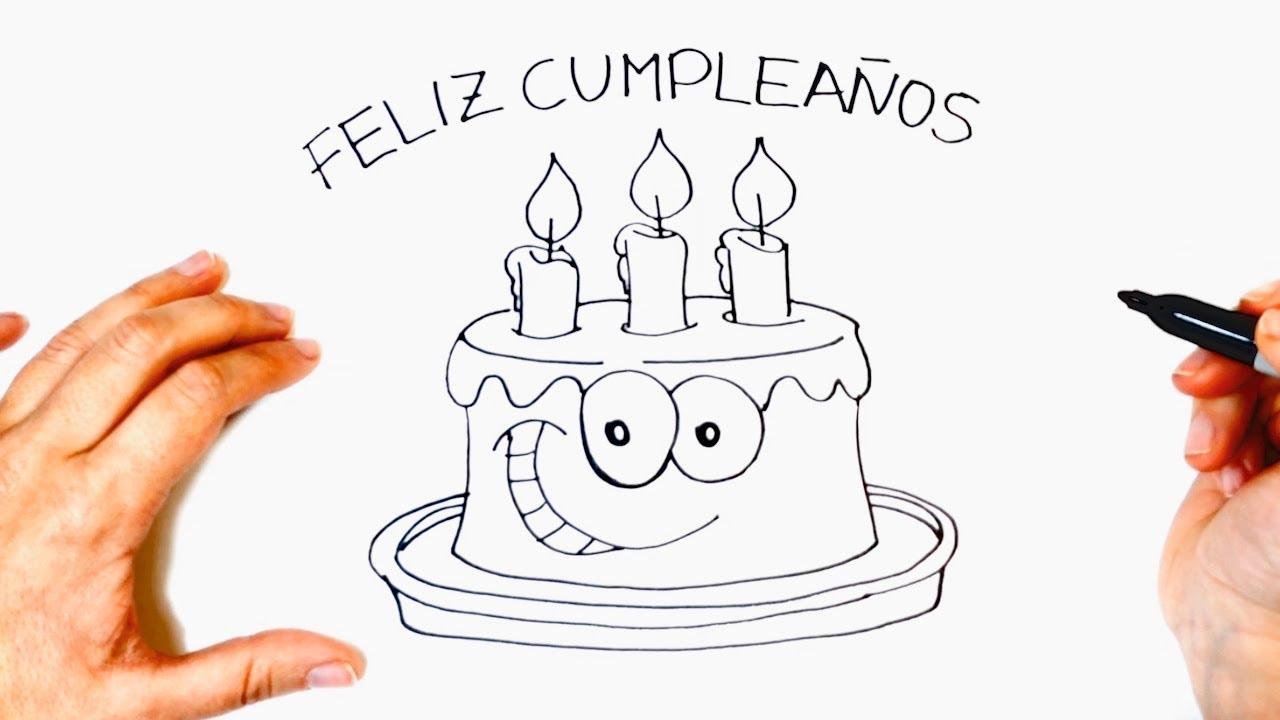 Dibuja Y Colorea Torta De Cumpleaños: Fiestas Para Ninos Cumpleanos Dibujos De Cumpleanos Para
