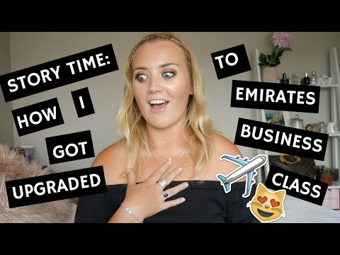 How I Got Upgraded To Emirates Business Class and TIPS So You Can TOO!