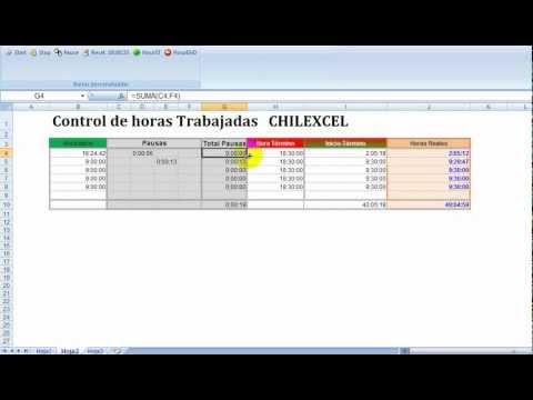 Control de Horas Trabajadas en EXCEL (Chilexcel) - YouTube