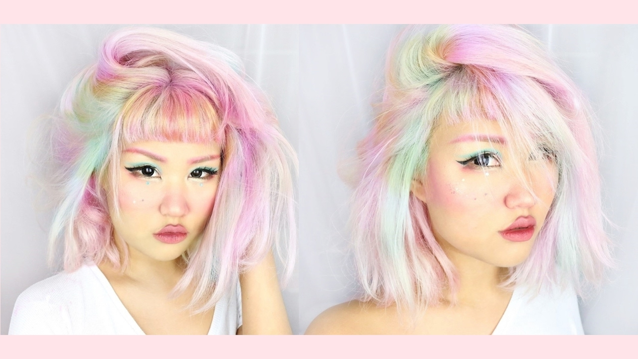 How I Highlight My Hair Pastel Colors Youtube