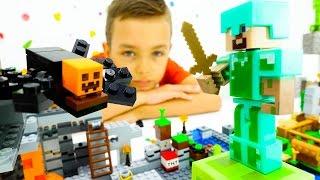 MINECRAFT! Смотри видео с Лего Майнкрафт! Непростая жизнь Стива в мире Майнкрафта!