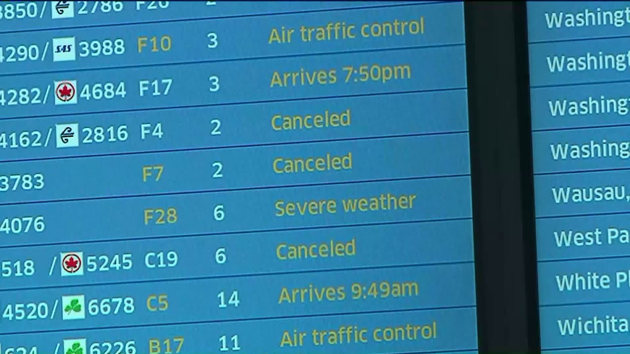 Chicago Weather: More than 1000 flights canceled due to snow ...