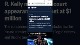 R. Kelly's bond has been set to 1 million,it should of been more!!!!!