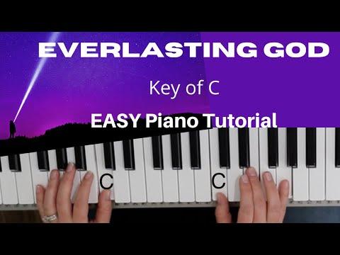 Everlasting God -Brenton Brown~Ken Riley (Key of C)//EASY Piano Tutorial
