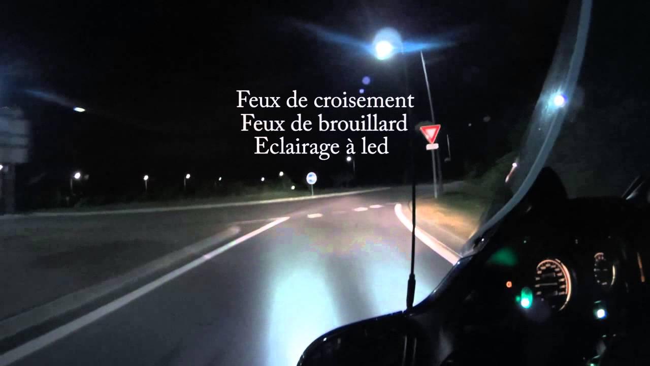 roulage de nuit avec éclairage additionnel à led  YouTube