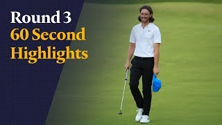 Highlights as Tommy Fleetwood shoots a wonderful 66 at The Open