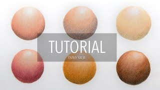 Tutorial | How to color shade different skin tones with colored pencils and blending techniques