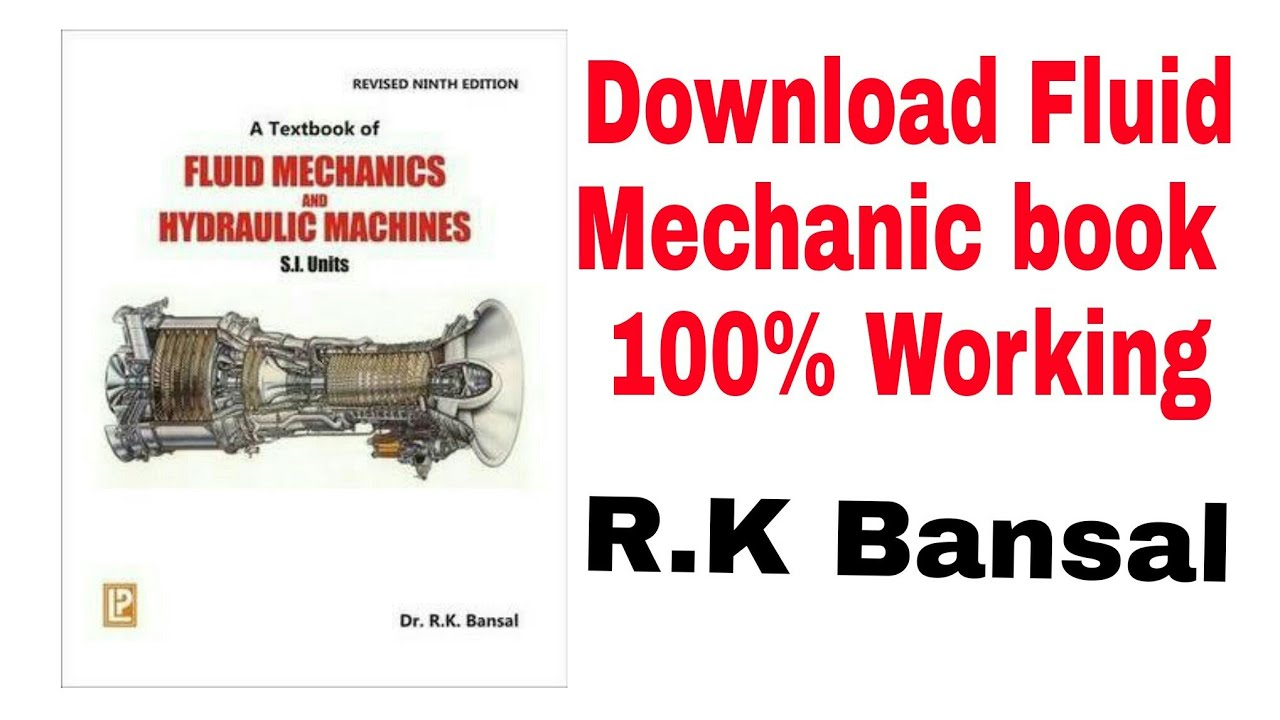 📒📕How to Download Fluid Mechanic book by Rk Bansal