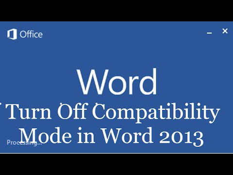 Does compatibility mode for Microsoft word let you save?