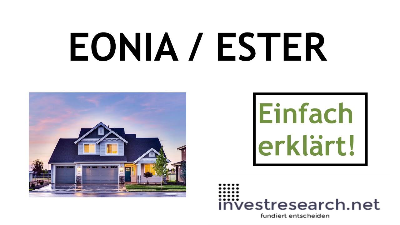 EONIA - variabler Zinsatz (ESTER) einfach erklärt
