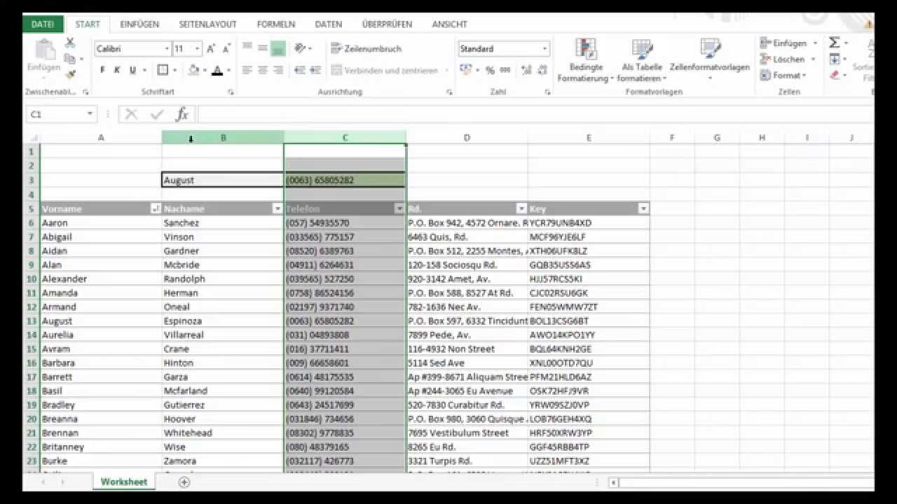Sverweis Excel 2013 Youtube