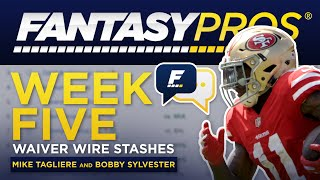 Live: Week 5 Waiver Wire Stashes (2019 Fantasy Football)