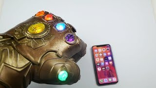How Strong is Infinity Gauntlet VS iPhone X?