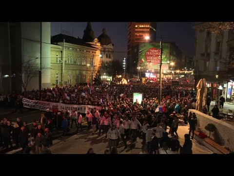 AFP news agency: Belgrade gives Putin a rousing welcome