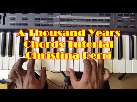 How To Play A Thousand Years Easy Piano Chords Tutorial