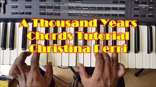 How To Play A Thousand Years - Easy Piano Chords Tutorial - Christina Perri