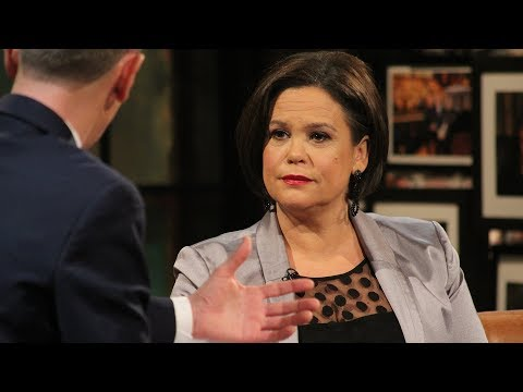"""""""There is no problem that cannot be solved"""" - Mary Lou McDonald   The Late Late Show   RTÉ One"""