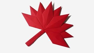Hoja de otoño origami - How to make a paper Autumn Leaf