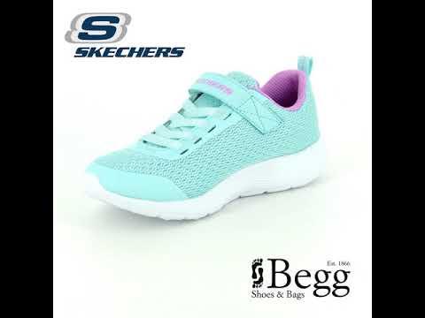 5e84a25a17dd Skechers Dyna Lite 83070 AQPR Aqua - purple trainers - YouTube