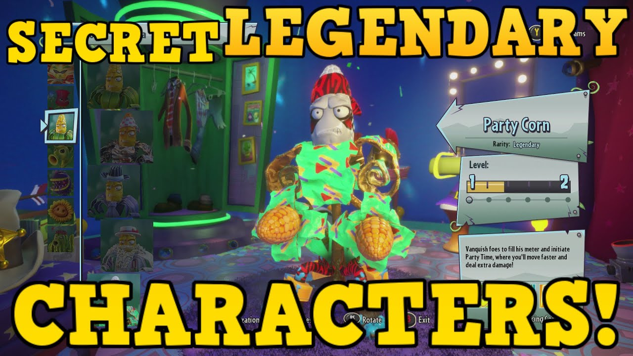 How To Unlock Secret Legendary Characters Plants Vs Zombies Garden Warfare 2 Youtube