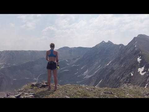 Running in the San Juan Mountains above Telluride, Colorado
