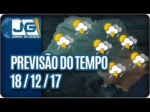 Previsão do Tempo - 18/12/2017