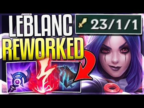 NEW LEBLANC REWORK IS ACTUALLY OP! ONE-SHOT ANYONE - Leblanc Rework Gameplay - League of Legends