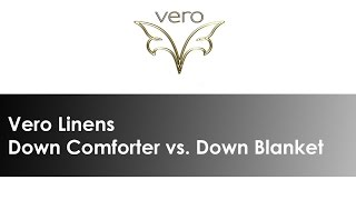 What is the difference between a Down Comforter & Down Blanket?