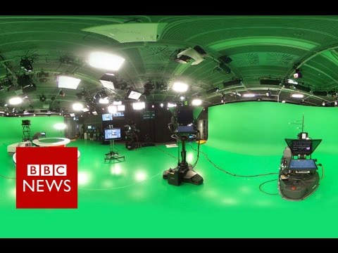 Jeremy Vine's tour of our virtual reality studio (360 video) – BBC News