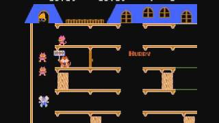 [Famicom] Mappy マッピー 1Loop(Round1-16) PLAY