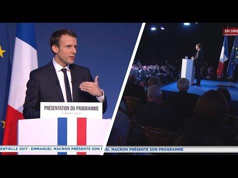 REPLAY INTÉGRAL : Emmanuel Macron présente son programme (02/03/2017)