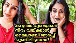 മൈലാഞ്ചി അരച്ച് ചുണ്ടിലിട്ടാലോ?എൻ്റെ പൊന്നോ കിടിലൻ റിസൾട്ട് |Remedy For Dark Lips|Malayali Makeover
