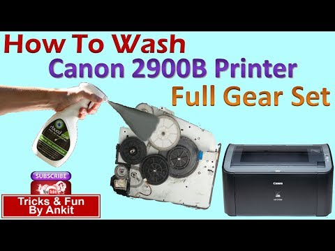 How ? Clean or Wash Gear-Set of Canon 2900B, HP 1010, 1015,1018, 1020 etc.
