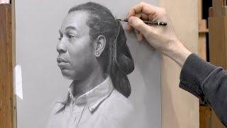 """DaLawn"" –Portrait Drawing by David Jamieson"