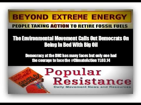 Big Oil Corruption Confronted at the DNC 11.03.14 #stopDNCfrackers