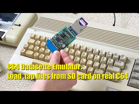 Commodore 64 loading .tap files from SD card