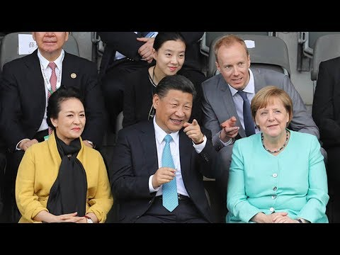 Xi, Merkel watch China-Germany youth soccer game in Berlin