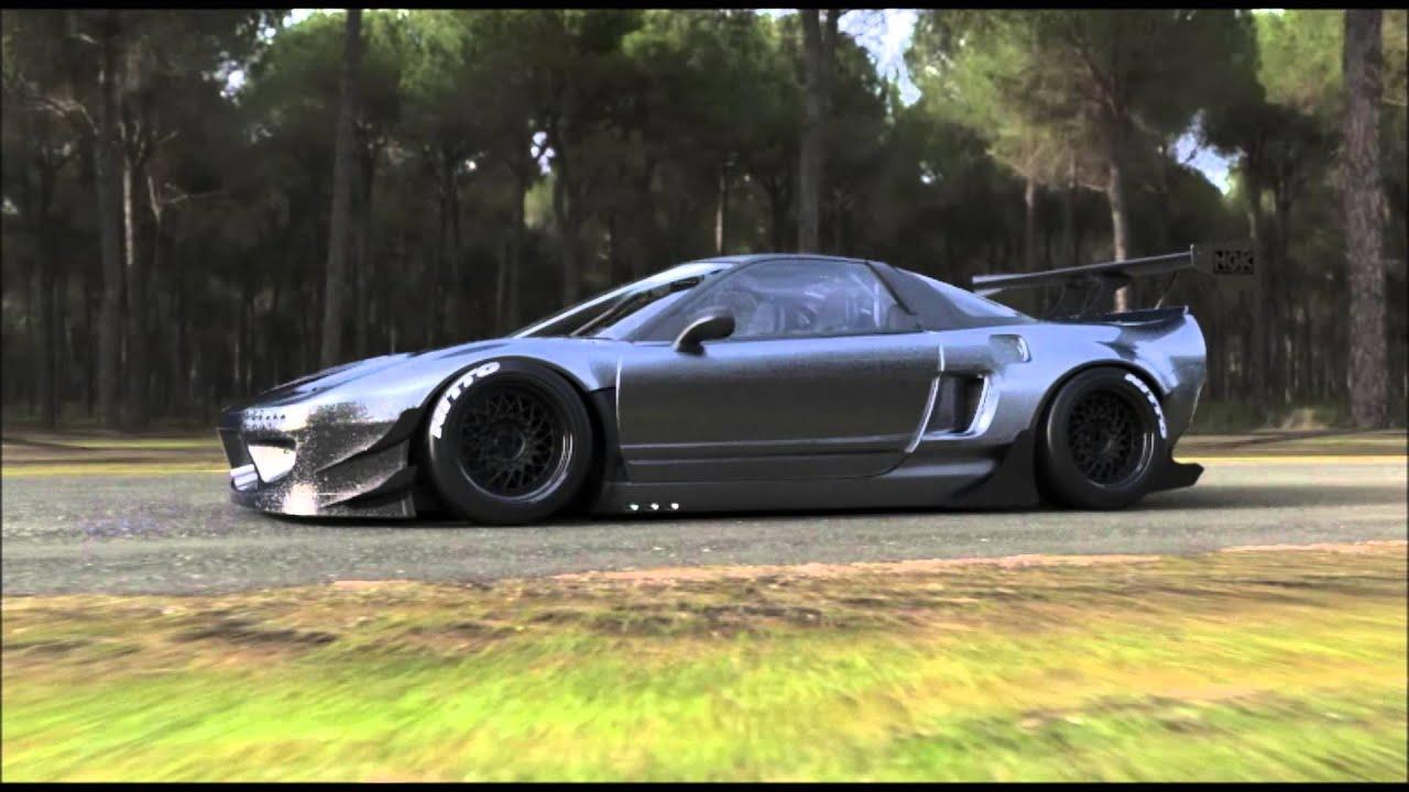 Blue Lamborghini Hd Wallpaper Rocketbunny Nsx Youtube