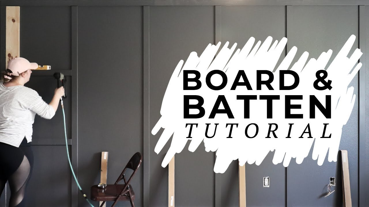 How To Install Board And Batten Tutorial