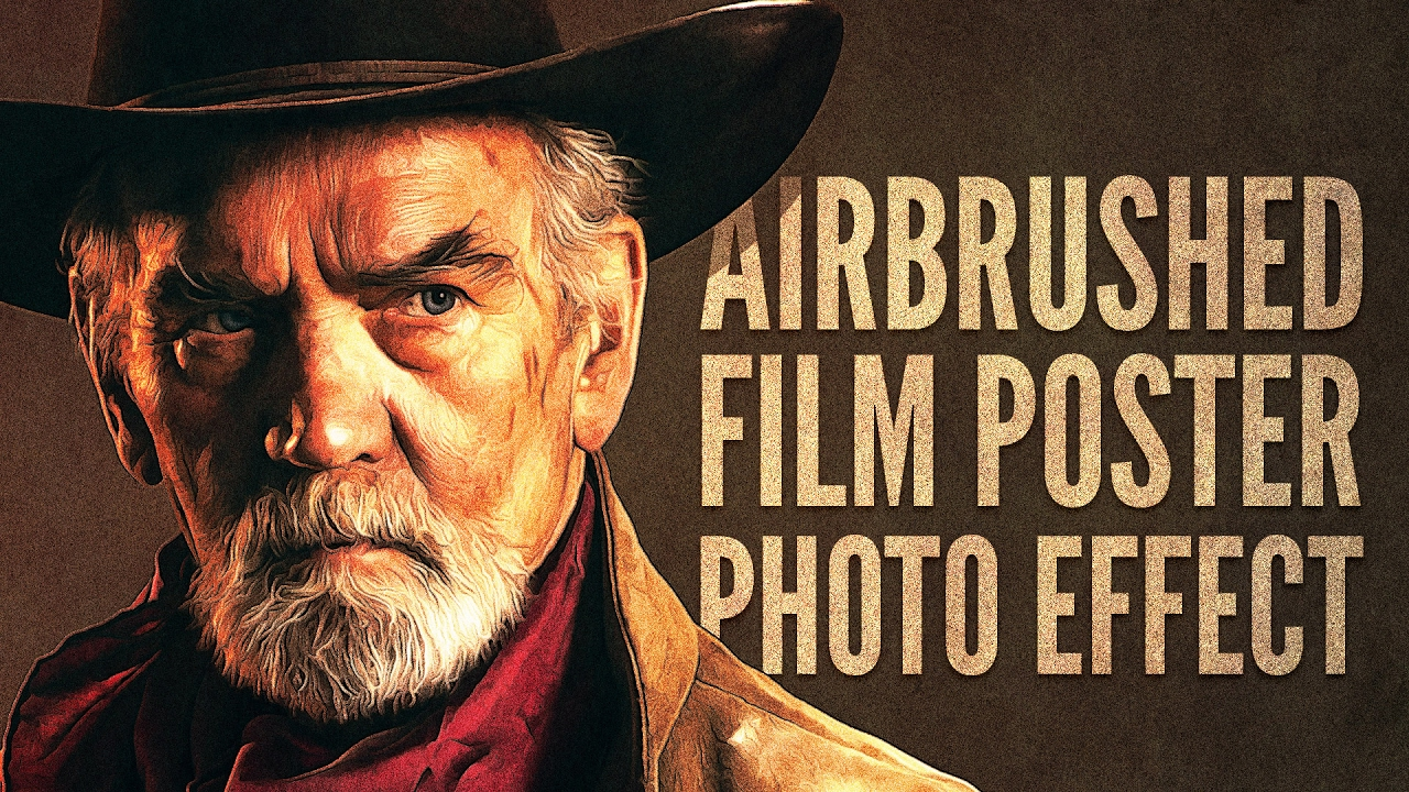 Photoshop Tutorial: Airbrushed Film Poster Style Photo Effect