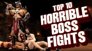 Top 10 - Horrible boss fights that almost ruined their games