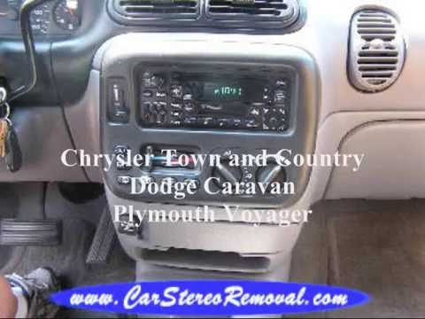 Voyager - Caravan - Town and Country Stereo Removal