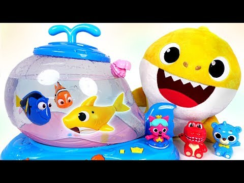 Pinkfong Swimming Baby Shark Melody FishBowl Tank Set Bath Play Toy Korean