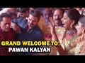 Grand welcome to Pawan Kalyan at T Subbarami Reddy Grandson wedding